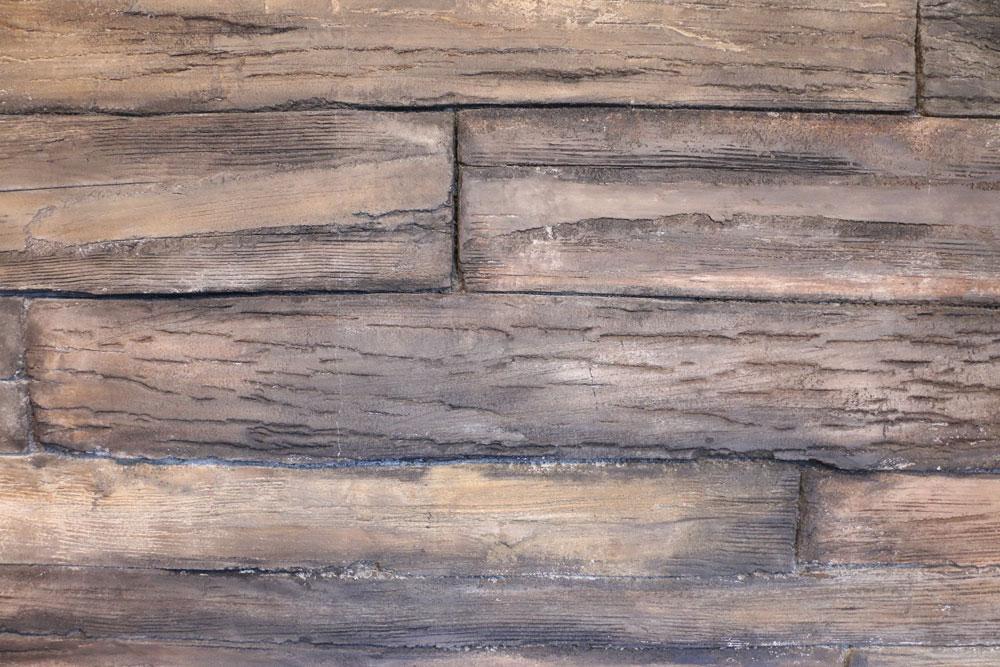 デザインコンクリート 木 着色
